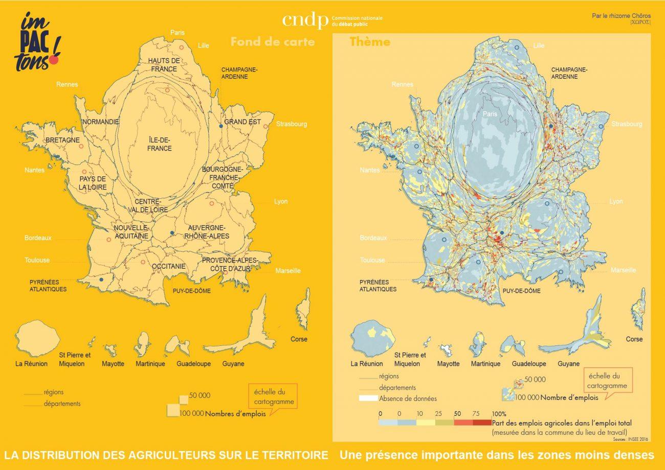 la distribution des agriculteurs sur le territoire