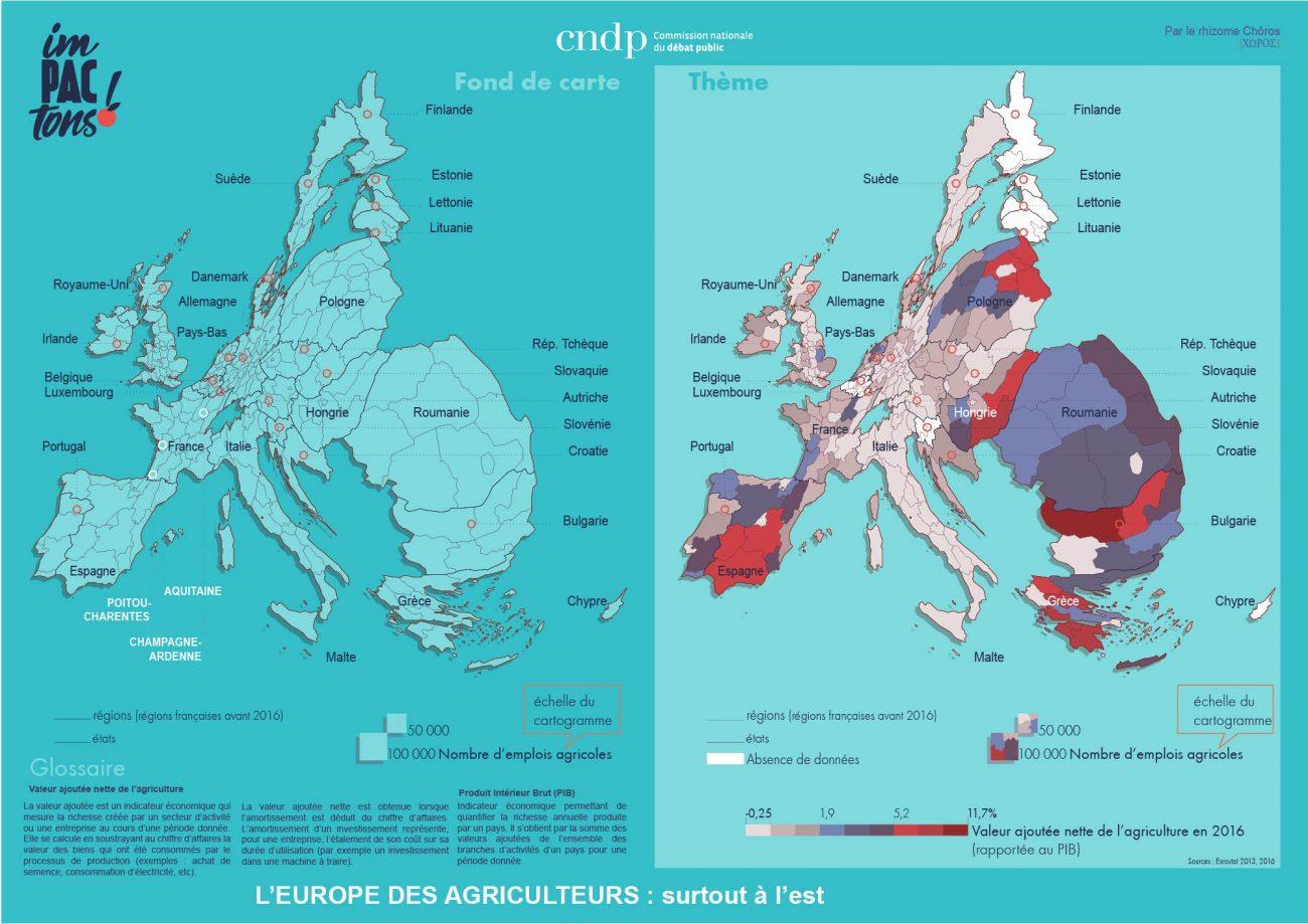L'europe des agriculteurs, surtout à l'est