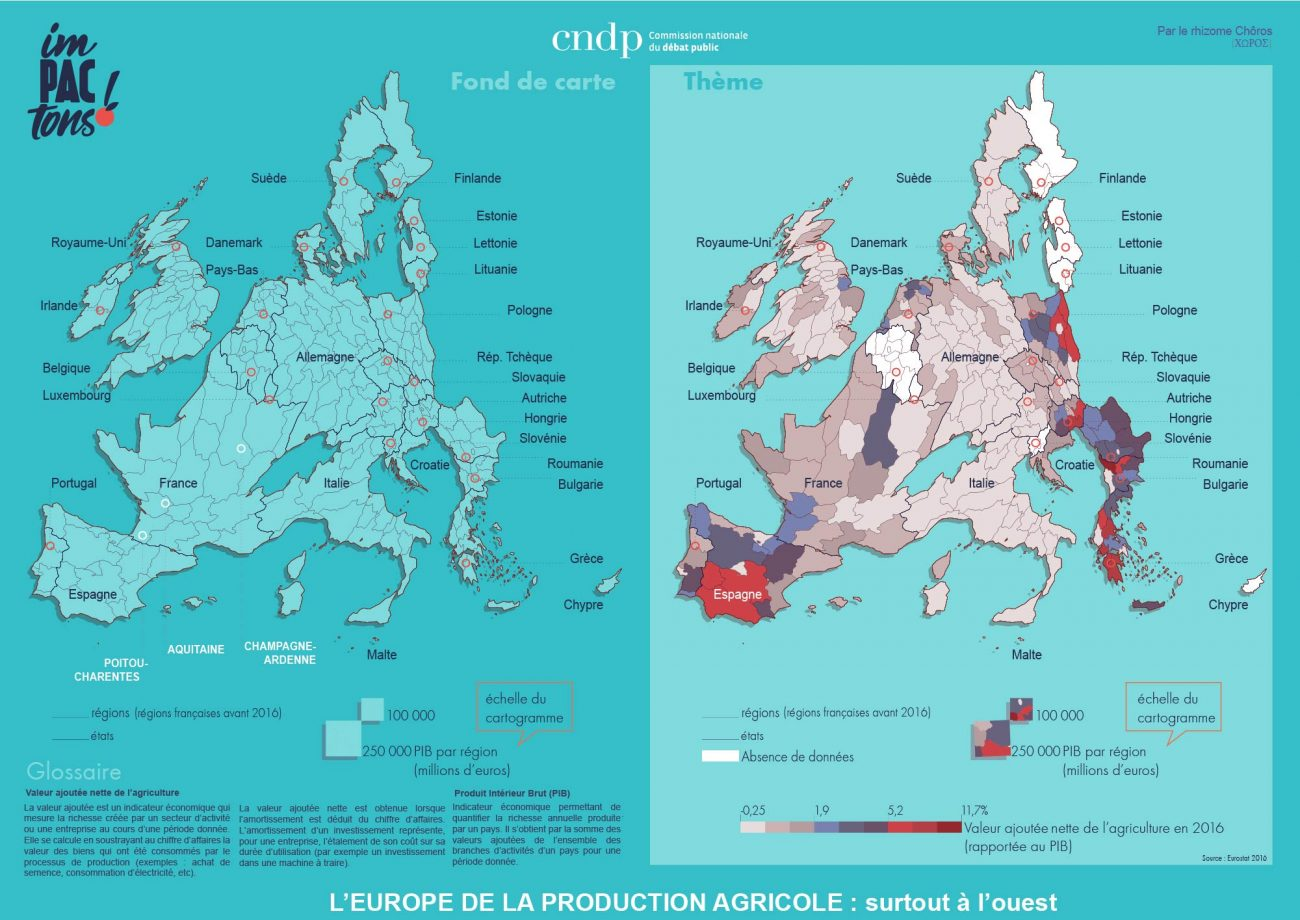 L'Europe de la production agricole, surtout dans l'ouest